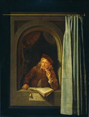Gerard Dou, Man smoking a pipe, ca. 1650. Amsterdam, Rijksmuseum