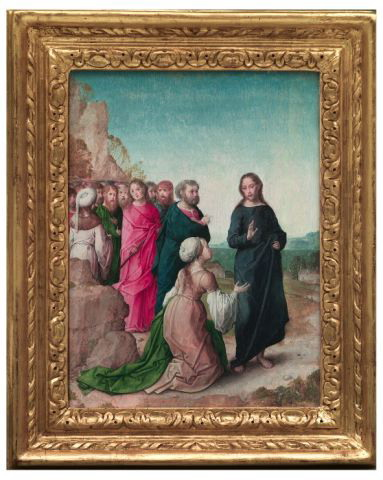 Juan de Flandes (attributed), Christ and the woman of Canaan, ca. 1494-1506. Madrid, Palacio Real