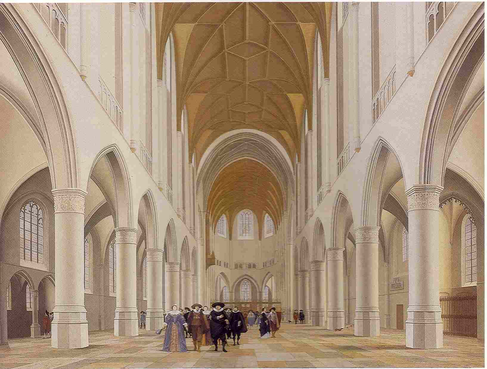 Pieter Saenredam, Interior of the Sint Bavokerk, Haarlem, 1628. Philadelphia, Philadelphia Museum of Art