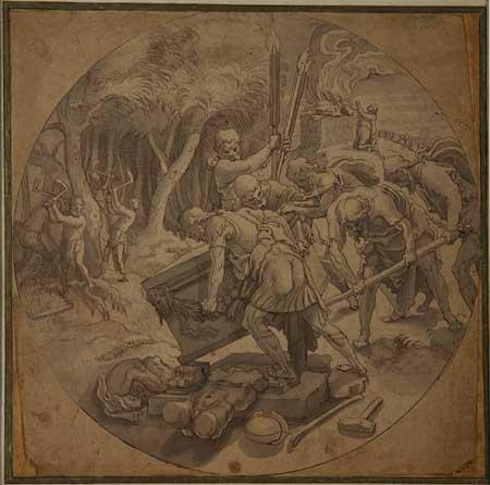Pieter Aertsen, Destruction of the altar of Baal. Haarlem, Teylers Museum