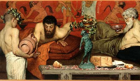 Lawrence Alma Tadema, Greek wine. Mexico City, Perez Simon coll.