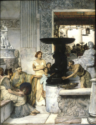 Laurens Alma Tadema, A sculpture gallery. Hanover, Hood Museum of Art