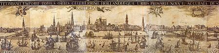 Pieter van der Keere, Panorama of Amsterdam, 1614-18. Amsterdam, city archive