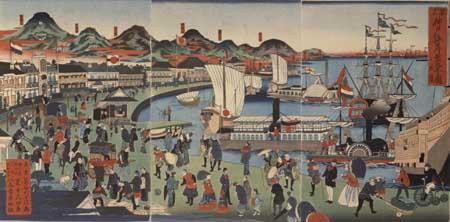 Hasegawa Sadanobu II, The port of Kobe. Kobe City Museum