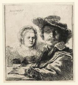 Rembrandt, Self portrait with Saskia. Cambridge, Fitzwilliam Museum