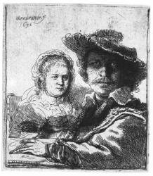 Rembrandt, Self-portrait with Saskia, 1636. Hamburg, Kunsthalle