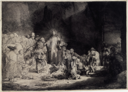 Rembrandt, Christ preaching (The hundred-guilder print), ca. 1649. Pittsburgh, Carnegie Museum