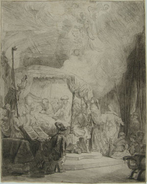 Rembrandt, The death of the Virgin, 1639. Milan, Ambrosiana