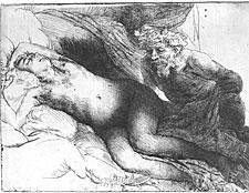 Rembrandt, Jupiter and Antiope, 1659, Berlin, Kupferstichkabinett