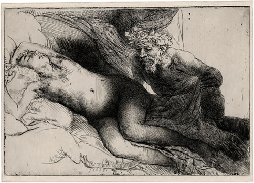 Rembrandt, Jupiter and Antiope, 1659. Paris, Fondation Custodia