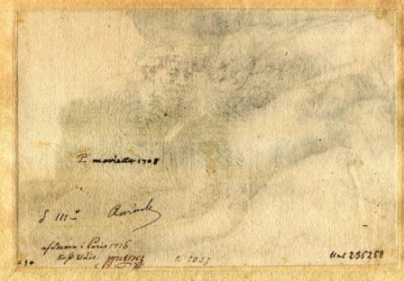 Rembrandt, Jupiter and Antiope: large plate, 1659, verso, St. Petersburg, Hermitage