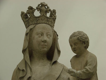 André Beauneveu, Head of Madonna and child, late 14th century