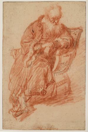Rembrandt, Old man seated in chair, 1631. Haarlem, Teylers Museum