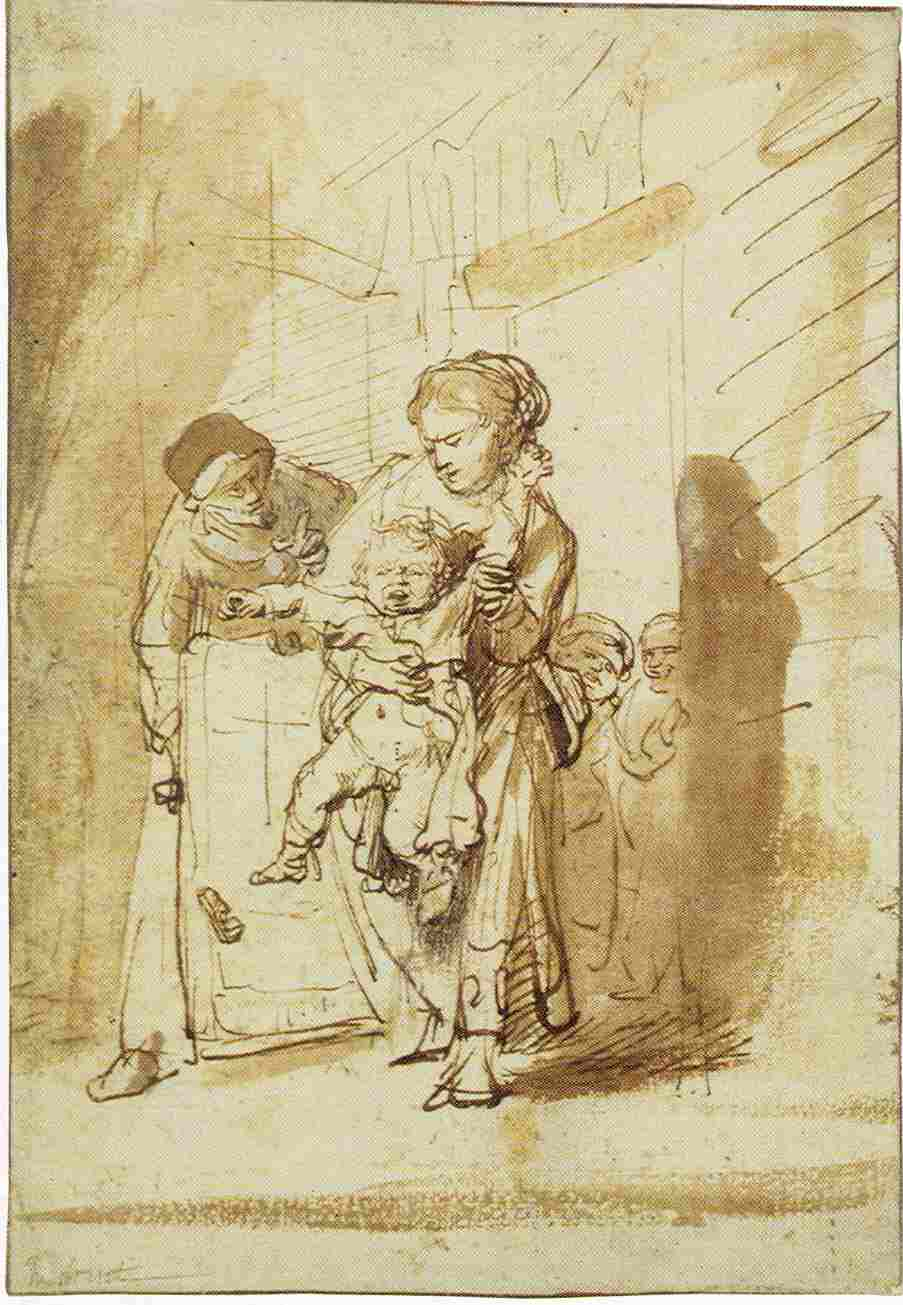 Rembrandt, The naughty child, ca. 1635. Berlin, Kupferstichkabinett