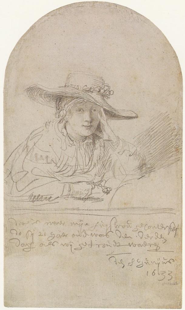 Rembrandt, Portrait of Saskia, 1633. Berlin, Kupferstichkabinett