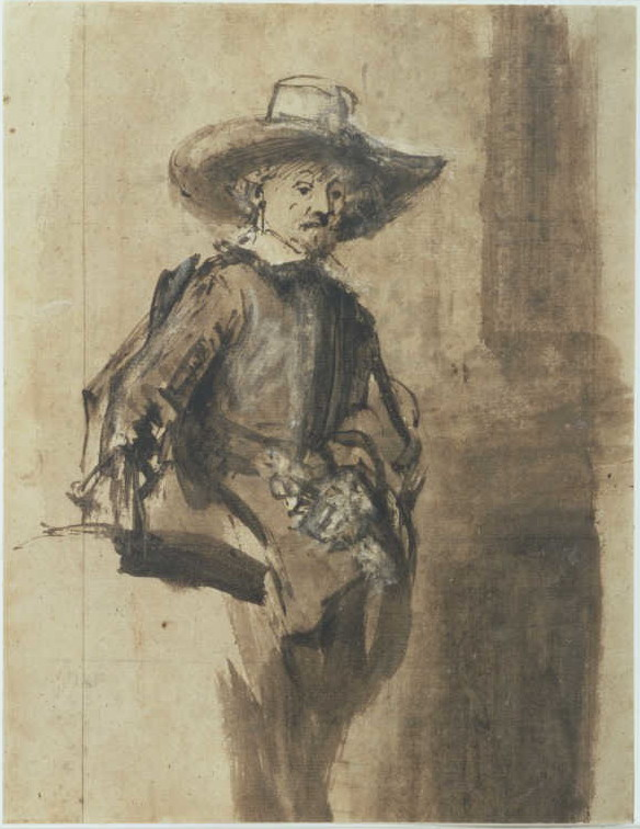 Rembrandt, Study for a syndic of the drapers' guild, ca. 1662. Rotterdam, Museum Boijmans Van Beuningen