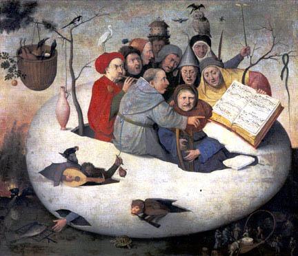 Hieronymus Bosch Follower, Concert in an egg. Lille, Palais des Beaux-Arts