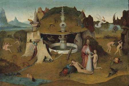 Workshop of Hieronymus Bosch, Garden of Paradise. Chicago, Art Institute of Chicago