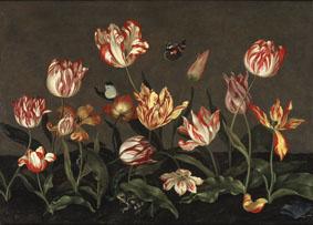 Johannes Bosschaert, Still life with flowers, ca. 1630s. Stockholm, Nationalmuseum