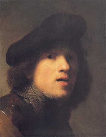 Rembrandt, Self-portrait with gorget and beret. Indianapolis, Indianapolis Museum of Art