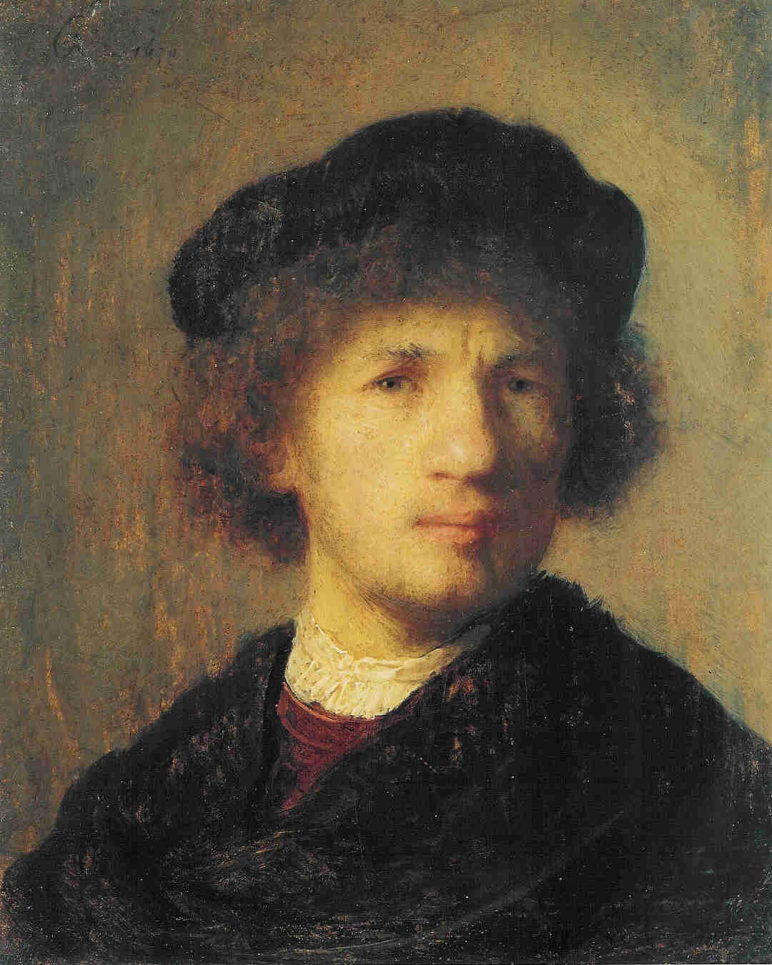Rembrandt, Self portrait, 1630, Stockholm, Nationalmuseum