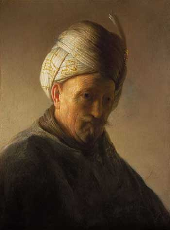 Rembrandt, Old man in turban. Kremer collection