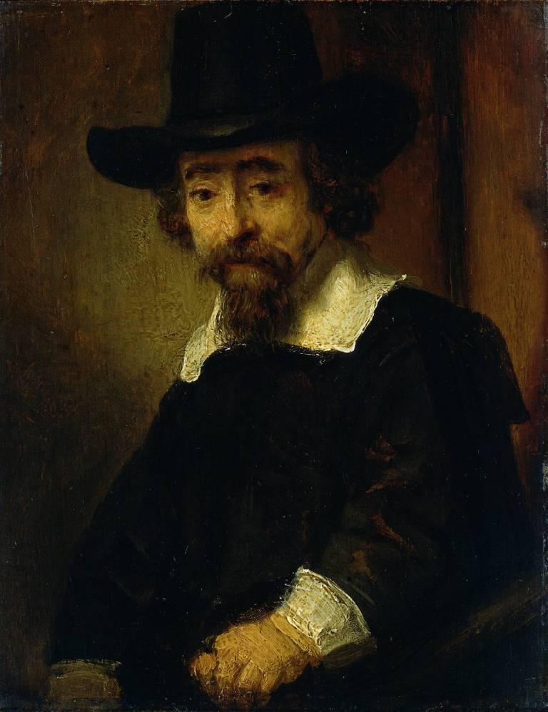 Rembrandt, oil sketch for etched portrait of  Ephraim Bueno, 1647. Amsterdam, Rijksmuseum