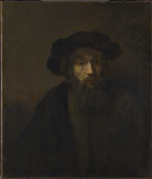 Rembrandt, Bearded man with hat. London, National Gallery