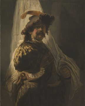Rembrandt, The standard bearer, 1636. Paris, private collection