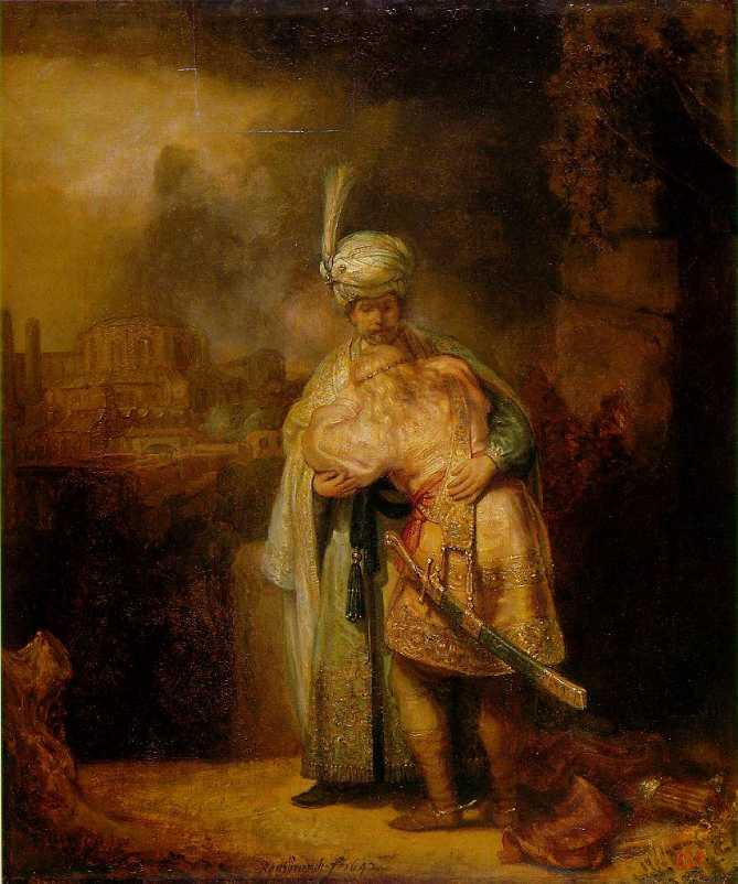 Rembrandt, David and Jonathan, 1642. St. Petersburg, Hermitage
