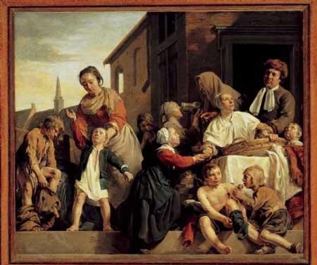 Jan de Bray, Caring for orphans, 1663. Haarlem, Frans Hals Museum
