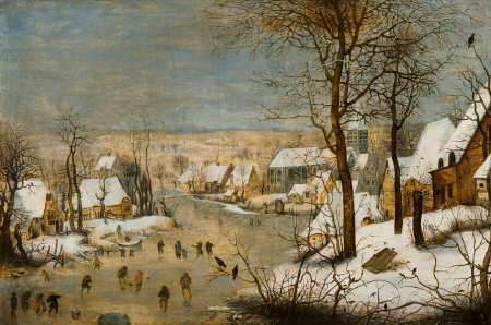 Pieter Brueghel the Younger, Winter landscape with ice skaters. Wroclaw, National Museum in Wroclaw