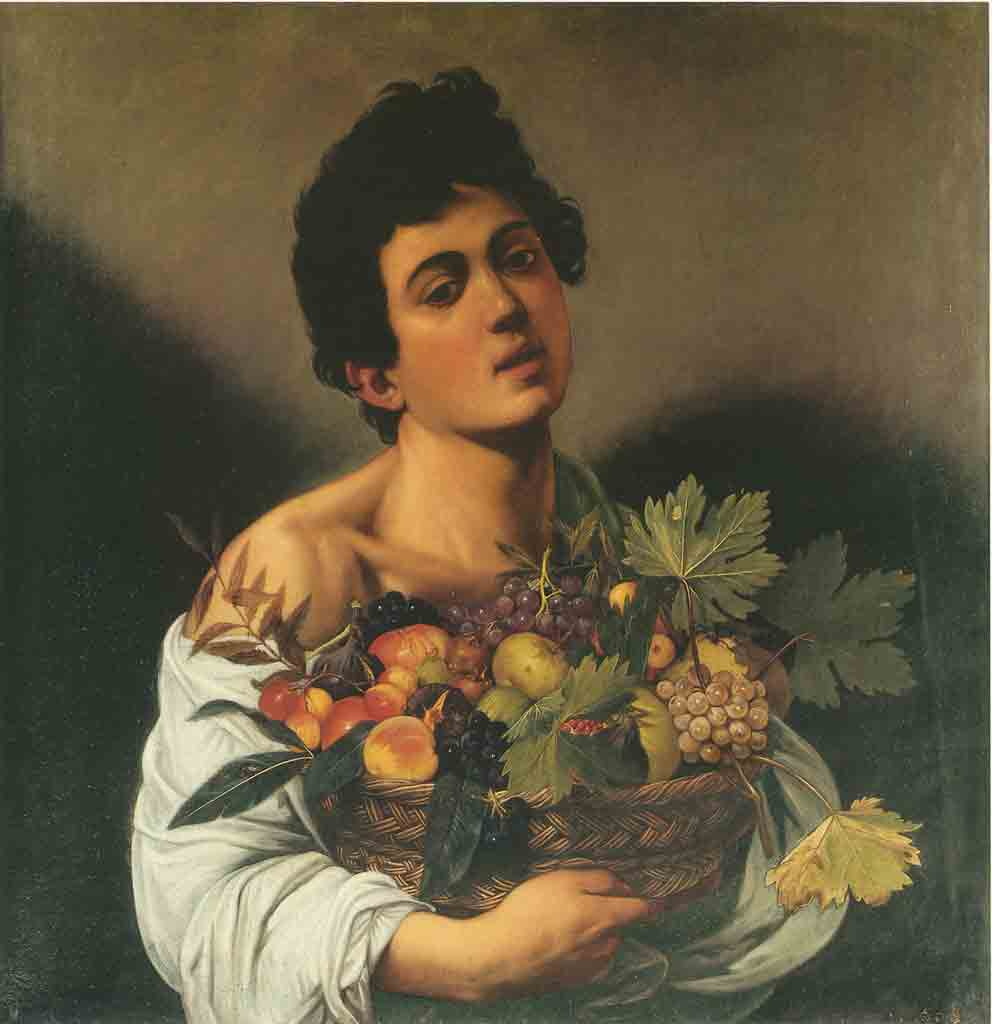 Caravaggio, Boy with basket of fruit, Rome, Galleria Borghese