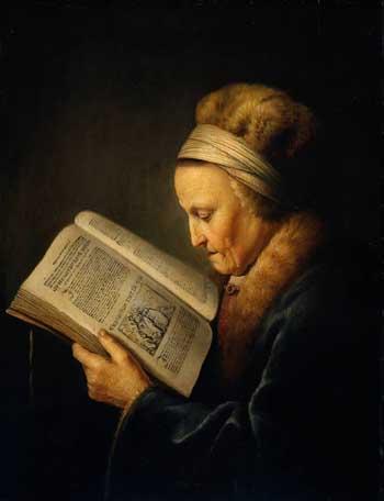 Gerard Dou, Old woman reading. Amsterdam, Rijksmuseum