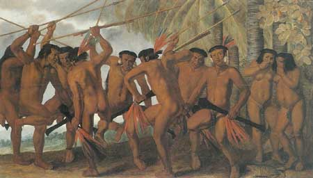 Albert Eckhout, Dance of the Tupaya Indians, ca. 1640. Copenhagen, Statens Museum for Kunst