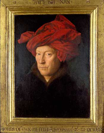 Jan van Eyck, Portrait of a man, 1433. London, National Gallery