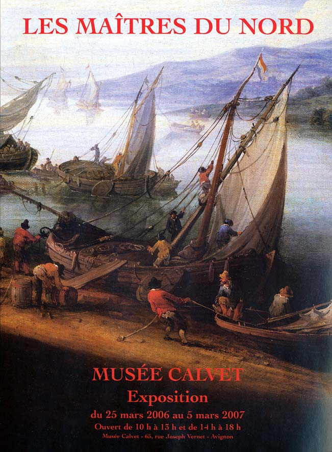 Cover of exhibition catalogue Maîtres du nord, Musée Calvet, Avignon, 2006-07