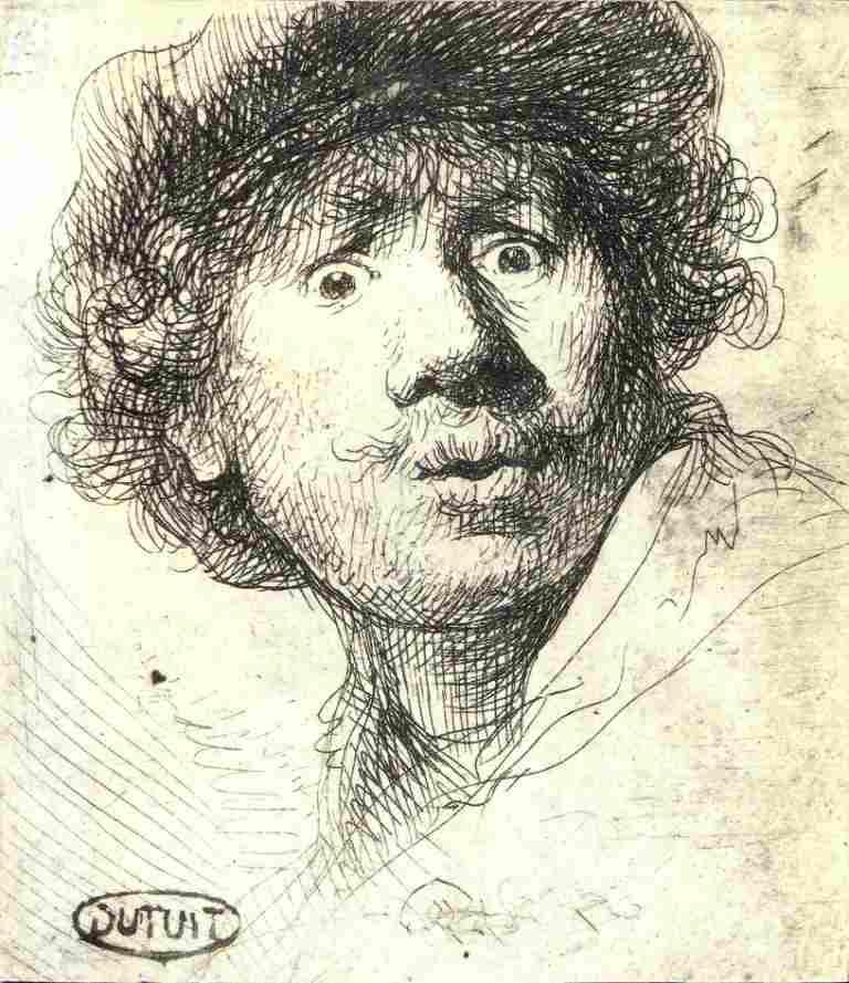 Remrandt, Self-portrait, 1630, Paris, Musée du Petit-Palais