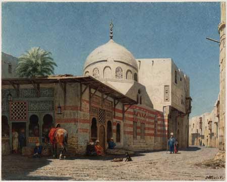 Willem de Famars Testas, Street scene in Cairo. Haarlem, Teylers Museum