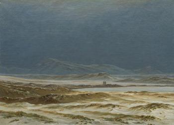 Caspar David Friedrich, Northern landscape, spring, ca. 1823-25, Washington, National Gallery of Art