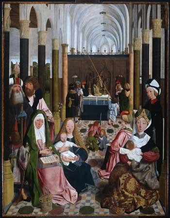 Geertgen tot Sint Jans, Holy kinship. Amsterdam, Rijksmuseum