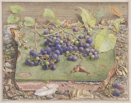 Dirk van Gelder, Tile with grapes, 1977. Collection heirs of the artist