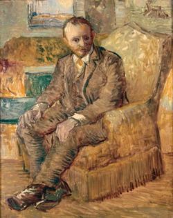 Vincent van Gogh, Portrait of Alexander Reid, winter 1886-87, Norman, Oklahoma, Fred Jones Jr. Museum of Art