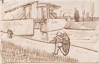 Vincent van Gogh, sketch in letter to Emile Bernard, March 1888. New York, Morgan Library