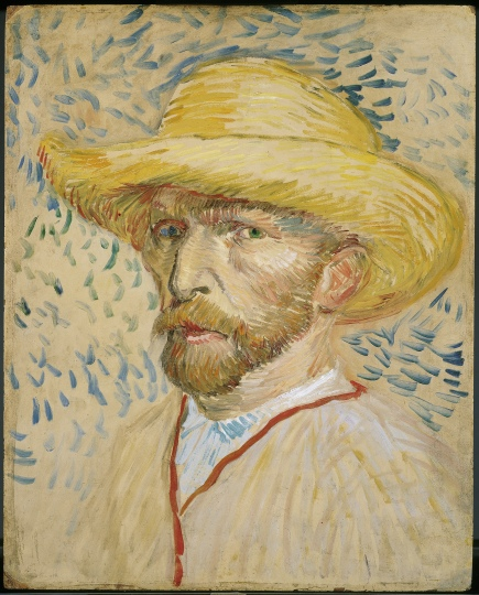 Vincent van Gogh, Self portrait with straw hat and painter's smock, 1887. Amsterdam, Vincent van Gogh Museum
