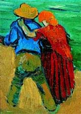 Vincent van Gogh, Strolling couple (detail). Private collection