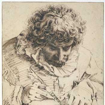 Hendrick Goltzius, Man sharpening pen. Amsterdam, Rijksmuseum