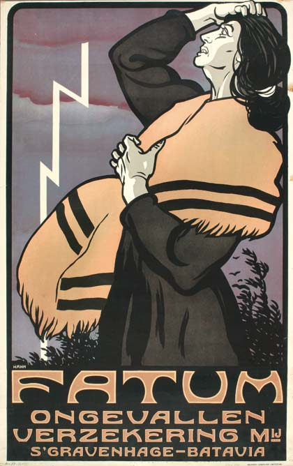 Albert Hahn, Fatum poster for a Dutch insurance company, 1915. The Hague, Haags Gemeentemuseum