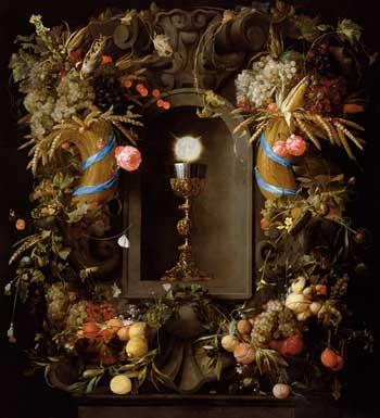 Jan Davidsz. de Heem, Chalice in flowered niche, 1648. Vienna, Kunsthistorisches Museum