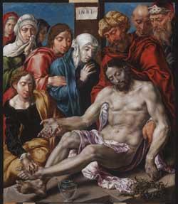 Maerten van Heemskerck, The lamentation of Christ. Budapest, Museum of Fine Arts. After restoration